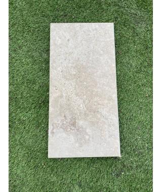 Margelle céramique piscine travetin naturel 29x60 bord demi-rond