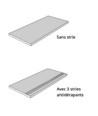 Carrelage extérieur 2cm Del Conca upgrade grigio 80x80 rectifié