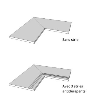 Margelle piscine angle 90 Mirage Noon Ember NN02 29x120