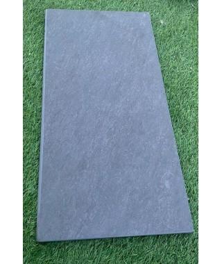 Margelle piscine anthracite 29x120 bord demi-rond (LT18)
