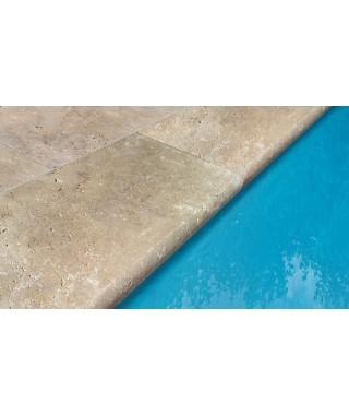 Travertin Margelle Bord 1/2 Rond Mix ép:3 cm