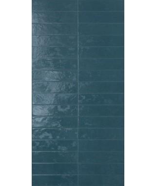 Carreau Marca Corona Regoli 7.5x30 Blu Glossy