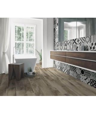 Carrelage parquet salle de bain couleur taupe Savoia Vintage