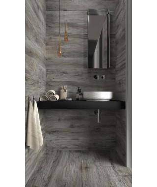 Carrelage parquet gris salle de bain Savoia Vintage