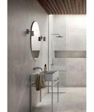 Carrelage gris salle de bain Casalgrande Padana Metropolis Silver