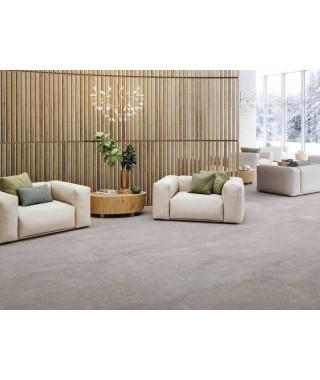 Carrelage intérieur gris imitation ciment dans salon : Refin Mold