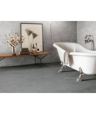 Carrelage intérieur gris imitation ciment dans salle de bain : Refin Mold