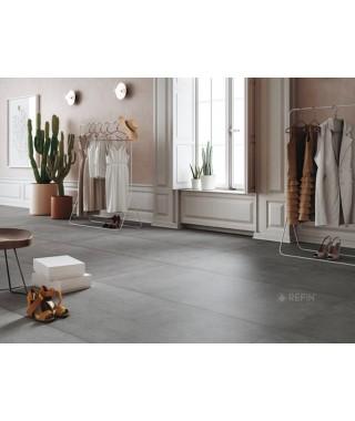 Carrelage intérieur gris foncé imitation ciment : Refin Plain