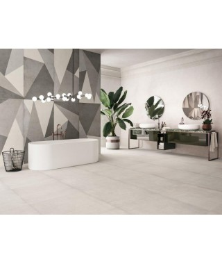 Carrelage intérieur blanc cassé imitation ciment : Refin Plain