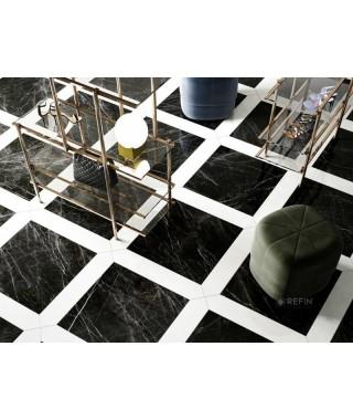 Carrelage losange Refin Prestigio 14,5x74,5 Carrara Losanga Lucido