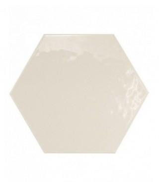 Carrelage mural Equipe Hexatile blanc brillant 17.6x20.1