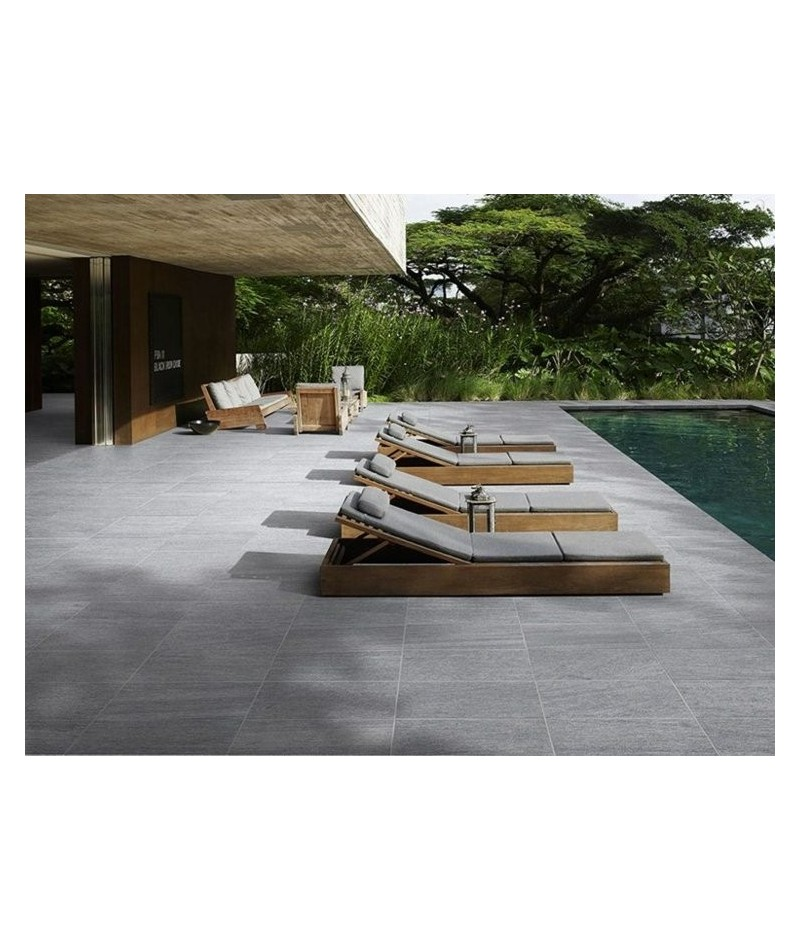 Carrelage ext rieur 2cm tag contener rectifi 60x60 ain for Carrelage rectifie