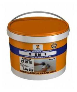 Colle & joint 2 en 1 pour carrelage PRB blanc 3,5kg