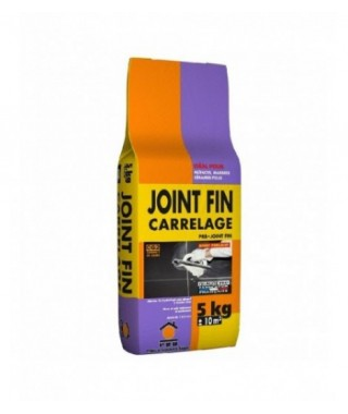 Joint fin carrelage et faïence hydrofuge (1-5mm) PRB gris 5kg