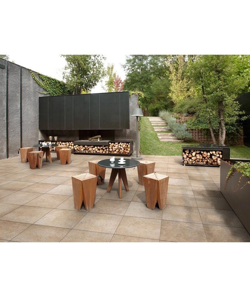 Carrelage ext rieur 2cm refin pietre di borgogna rectifi for Carrelage exterieur 60x60