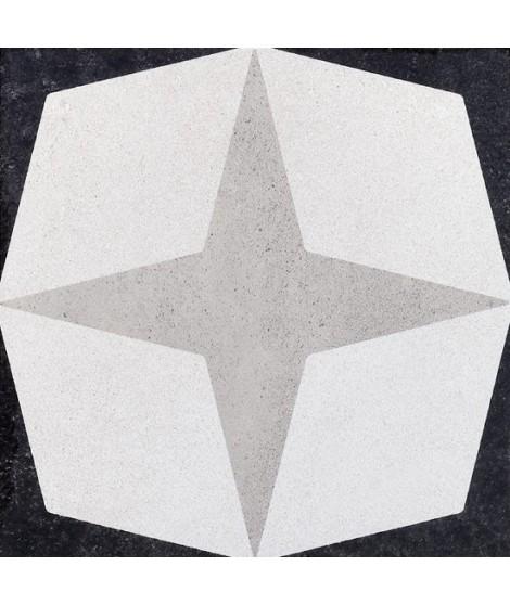 Carrelage decor Fioranese Cementine Black&White rectifié mat 20x20