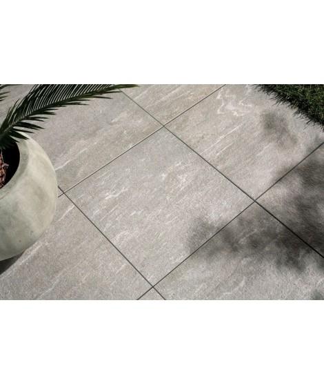 Carrelage extérieur 2cm imitation pierre Novoceram Cast rectifié structuré 45x90