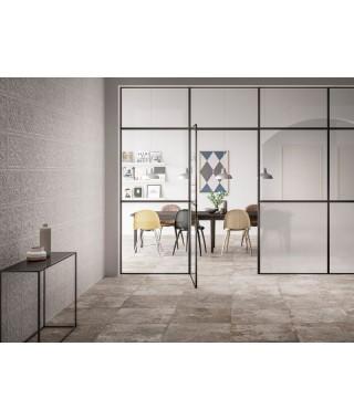 Carrelage decor Refin Voyager Ceiling white rectifié 30x30