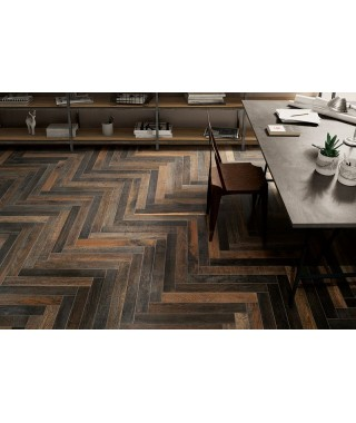 Carrelage imitation parquet Fioranese Wood_Mood rectifié 8.9x90.6