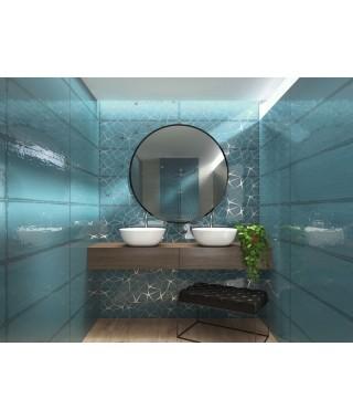 Faïence décor APE Allegra link rectifié brillant 31.6x90