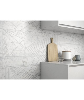Carrelage imitation marbre Ape Vita décor luce rectifié mat 60x120