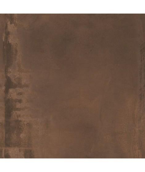 Carrelage imitation métal Abk Interno 9 rectifié lappato 60x60 Rust