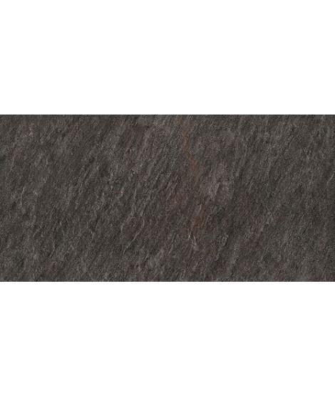 Carrelage extérieur 2cm Mirage Quarziti gris foncé 45x90 rectifié