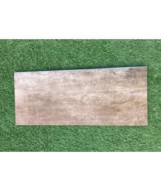 Margelle piscine Woodstone marron 25x60 bord demi-rond