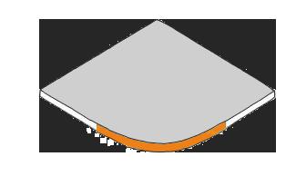 margelle angle arrondi