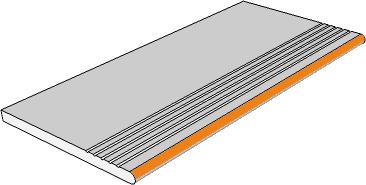 margelle strie bord demi rond
